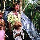 Harrison Ford, Helen Mirren, Hilary Gordon, and Rebecca Gordon in The Mosquito Coast (1986)