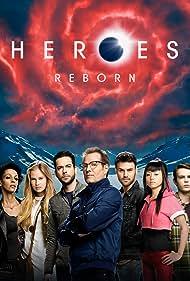 Jack Coleman, Judith Shekoni, Zachary Levi, Robbie Kay, Danika Yarosh, Ryan Guzman, and Kiki Sukezane in Heroes Reborn (2015)