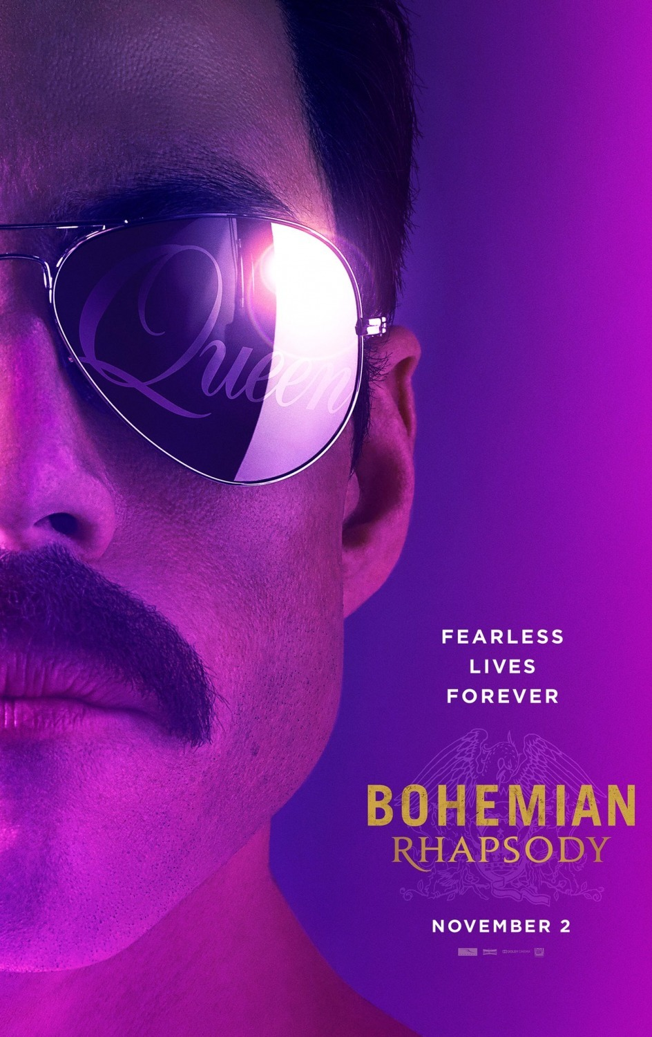 Резултат с изображение за bohemian rhapsody movie poster