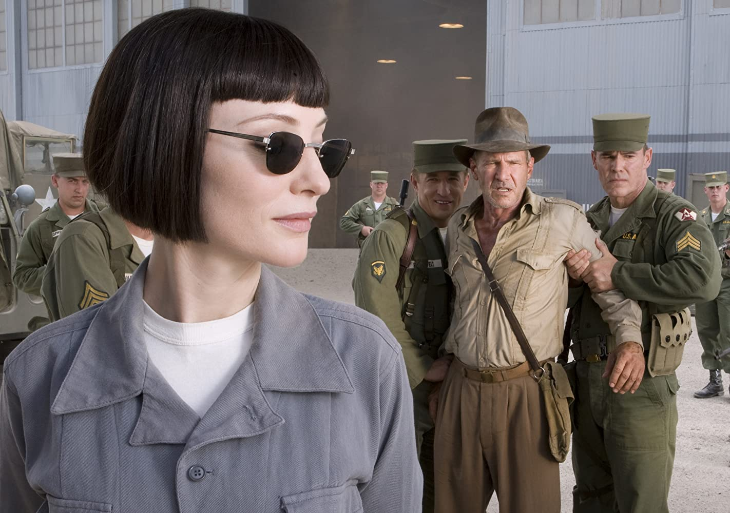 Harrison Ford, Cate Blanchett, Andrew Divoff, and Pasha D. Lychnikoff in Indiana Jones and the Kingdom of the Crystal Skull (2008)