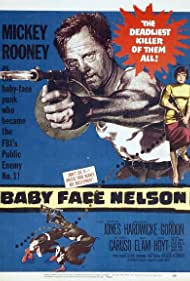 Mickey Rooney and Carolyn Jones in Baby Face Nelson (1957)