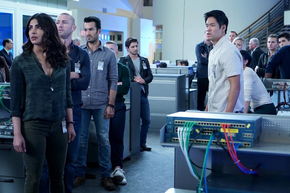 Priyanka Chopra Jonas, Aarón Díaz, Jake McLaughlin, David Lim, and Billy Peck in Quantico (2015)