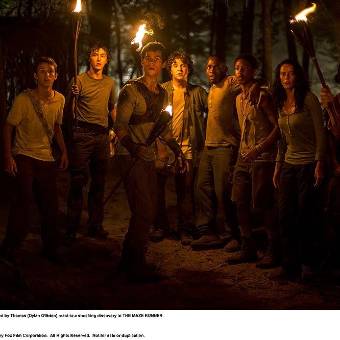 Aml Ameen, Kaya Scodelario, Dexter Darden, Dylan O'Brien, and Bryce Romero in The Maze Runner (2014)