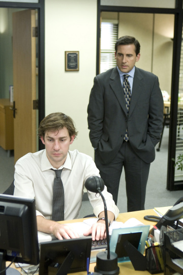 Steve Carell and John Krasinski in The Office (2005)