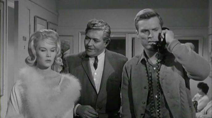 Ty Hardin, Simon Oakland, and Dorothy Provine in Wall of Noise (1963)
