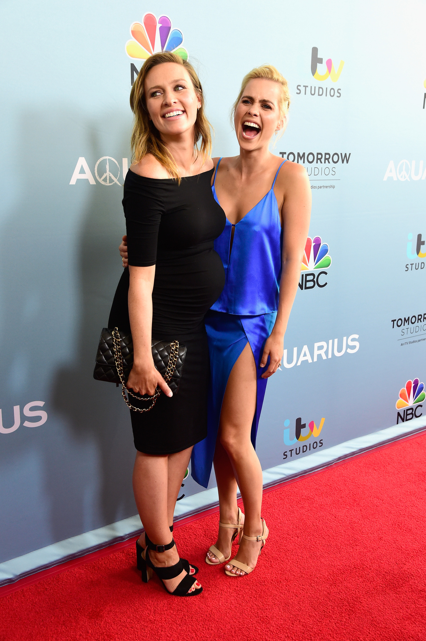 Michaela McManus and Claire Holt at an event for Aquarius (2015)