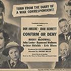 Don Ameche, Joan Bennett, Roddy McDowall, Claud Allister, Eric Blore, John Loder, Arthur Shields, and Raymond Walburn in Confirm or Deny (1941)