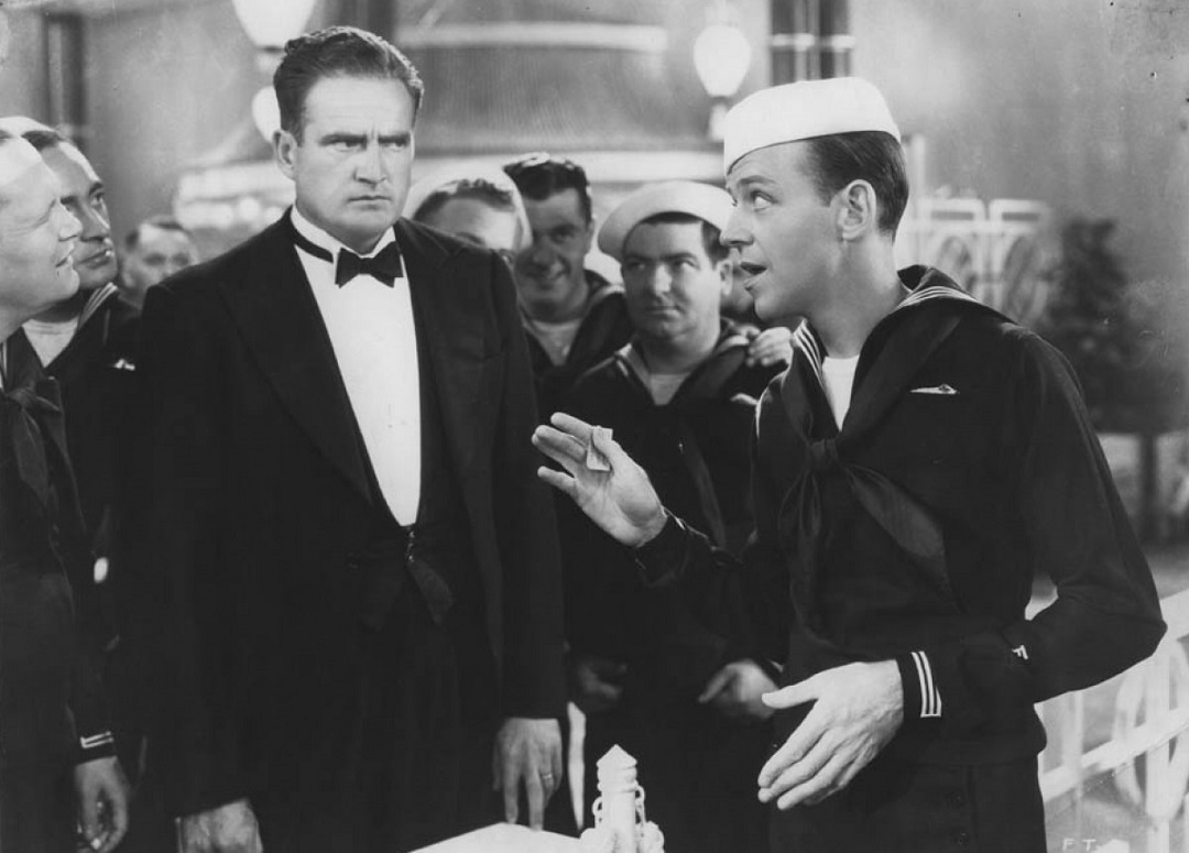 Fred Astaire, Richard Alexander, and Ray Mayer in Follow the Fleet (1936)