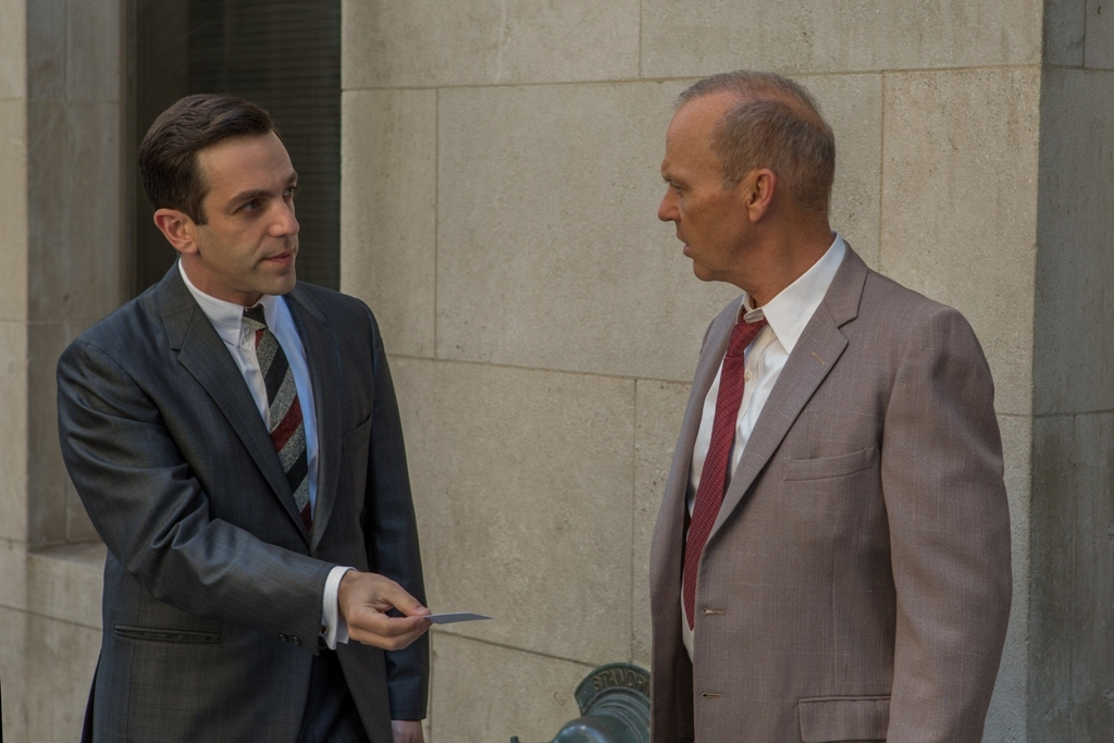 Michael Keaton and B.J. Novak in The Founder (2016)