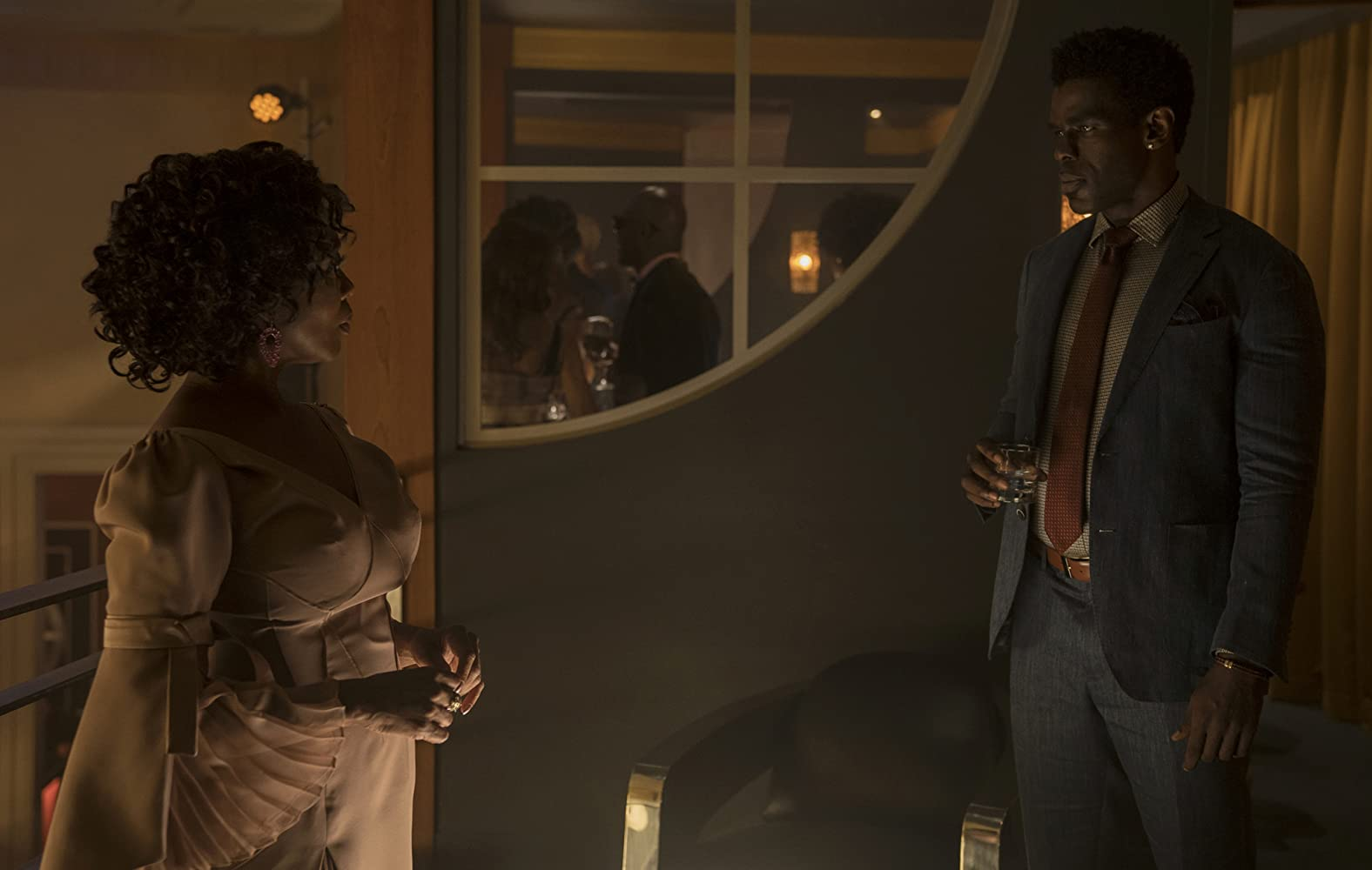 Alfre Woodard and Mustafa Shakir in Luke Cage (2016)
