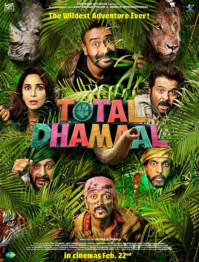 Total Dhamaal 2019 Hindi Full Movie 1080p HDRip 1.6GB ESub Download