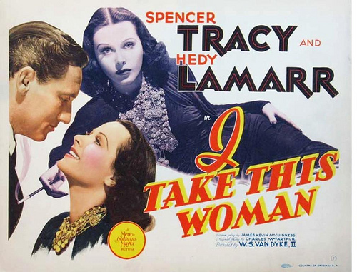 I Take this woman Hedy Lamarr vintage movie poster