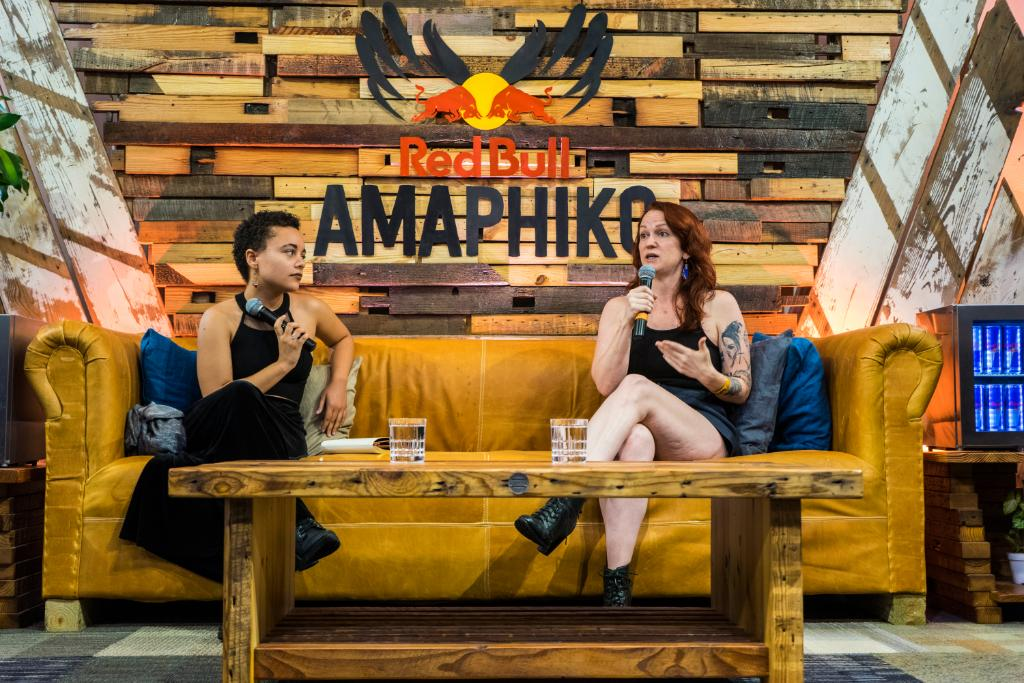 Moderating August 2017 Red Bull Amaphiko discussion with Director of 'Los Punks' Angela Boatwright.