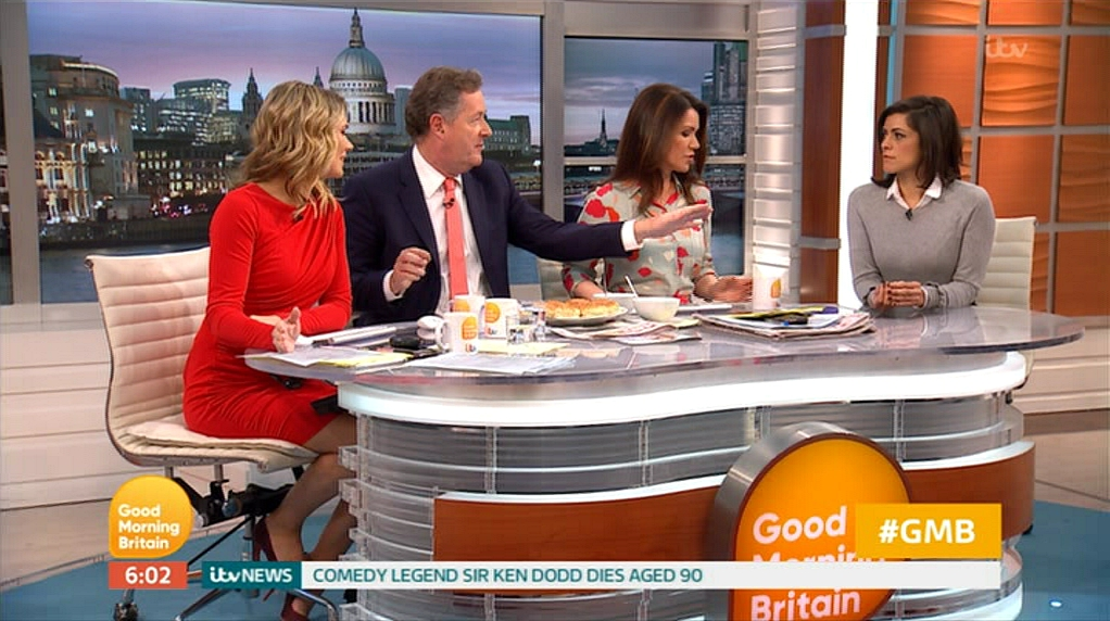 Piers Morgan, Susanna Reid, Lucy Verasamy, and Charlotte Hawkins in Good Morning Britain (2014)