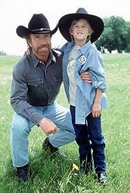 Chuck Norris and Haley Joel Osment in Walker, Texas Ranger (1993)