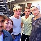 "On the set of ""Paint It Red"" (L-R) Douglas Spain, Ferin Petrelli, Paul T. Murray, Tommy Kijas, Chad Addison"