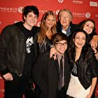 Joel Schumacher, Charlie Saxton, George Pimentel, Emily Meade, and Philip Ettinger at an event for Twelve (2020)