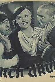 Moe Howard, Dorothy Granger, and Curly Howard in Punch Drunks (1934)