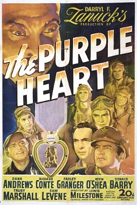 Dana Andrews, Richard Conte, Don 'Red' Barry, John Craven, Farley Granger, Sam Levene, Richard Loo, Kevin O'Shea, and Charles Russell in The Purple Heart (1944)