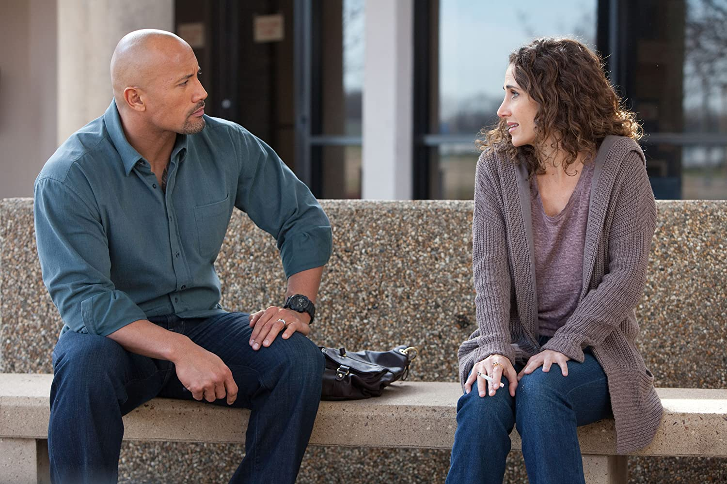 Melina Kanakaredes and Dwayne Johnson in Snitch (2013)