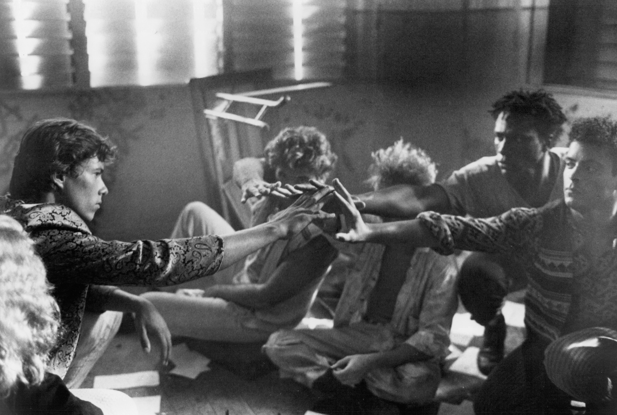 Michael Carmine, Leon, and Danny Quinn in Band of the Hand (1986)