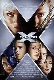 Famke Janssen, Halle Berry, Alan Cumming, Anna Paquin, Ian McKellen, Shawn Ashmore, Hugh Jackman, and Aaron Stanford in X2 (2003)