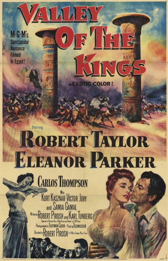 Robert Taylor, Samia Gamal, and Eleanor Parker in Valley of the Kings (1954)