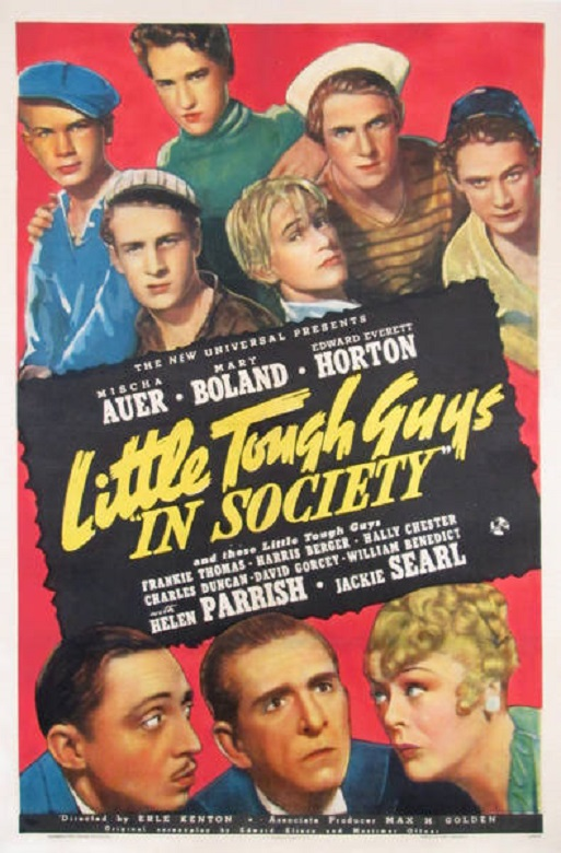 Edward Everett Horton, Mischa Auer, William 'Billy' Benedict, Harris Berger, Mary Boland, Hal E. Chester, Charles Duncan, David Gorcey, and Frankie Thomas in Little Tough Guys in Society (1938)