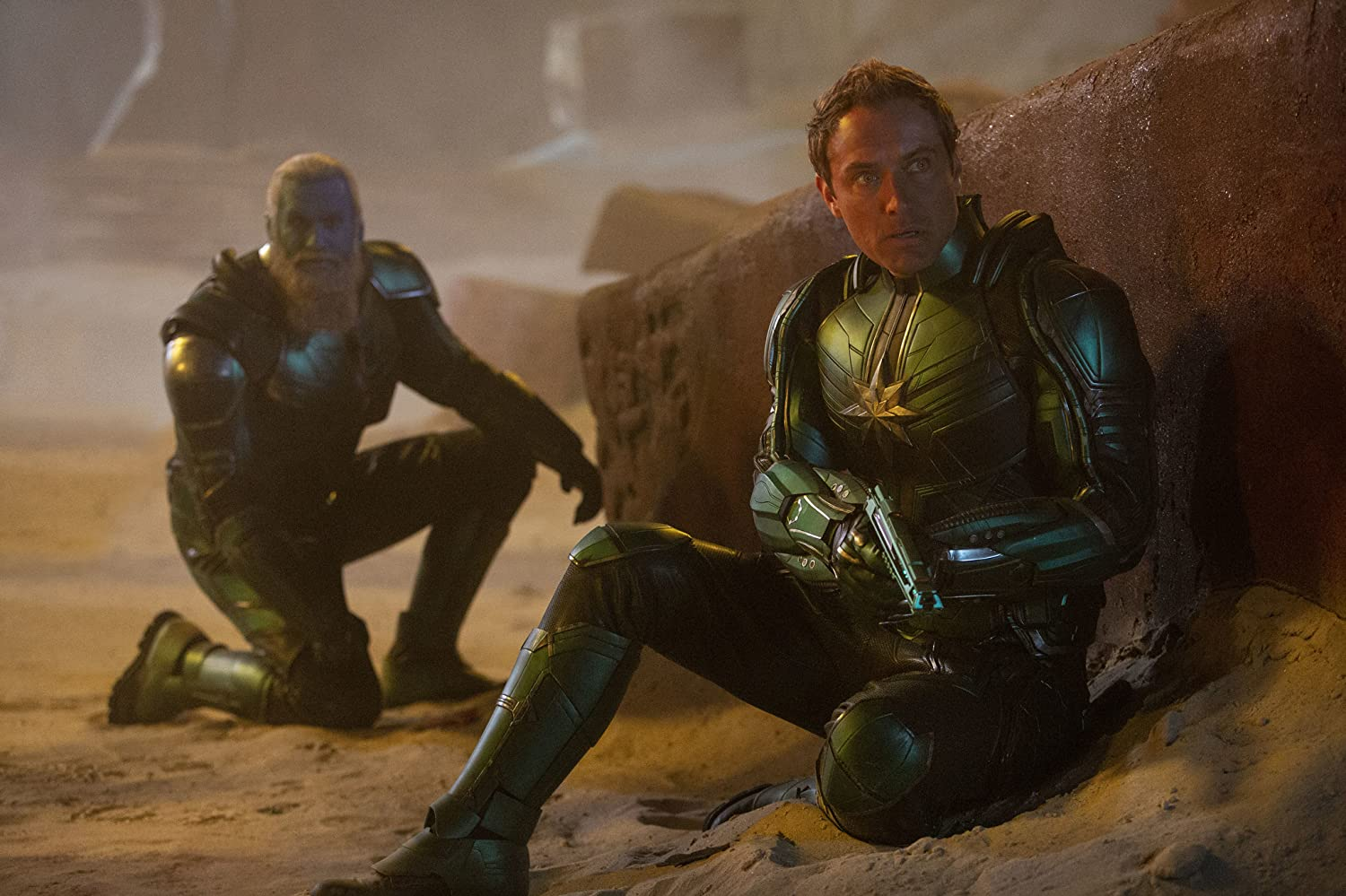 Jude Law and Rune Temte in Captain Marvel (2019)