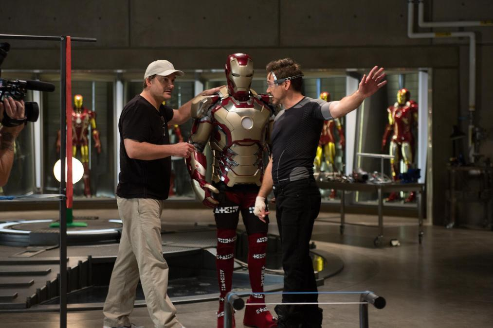 Robert Downey Jr. and Shane Black in Iron Man Three (2013)