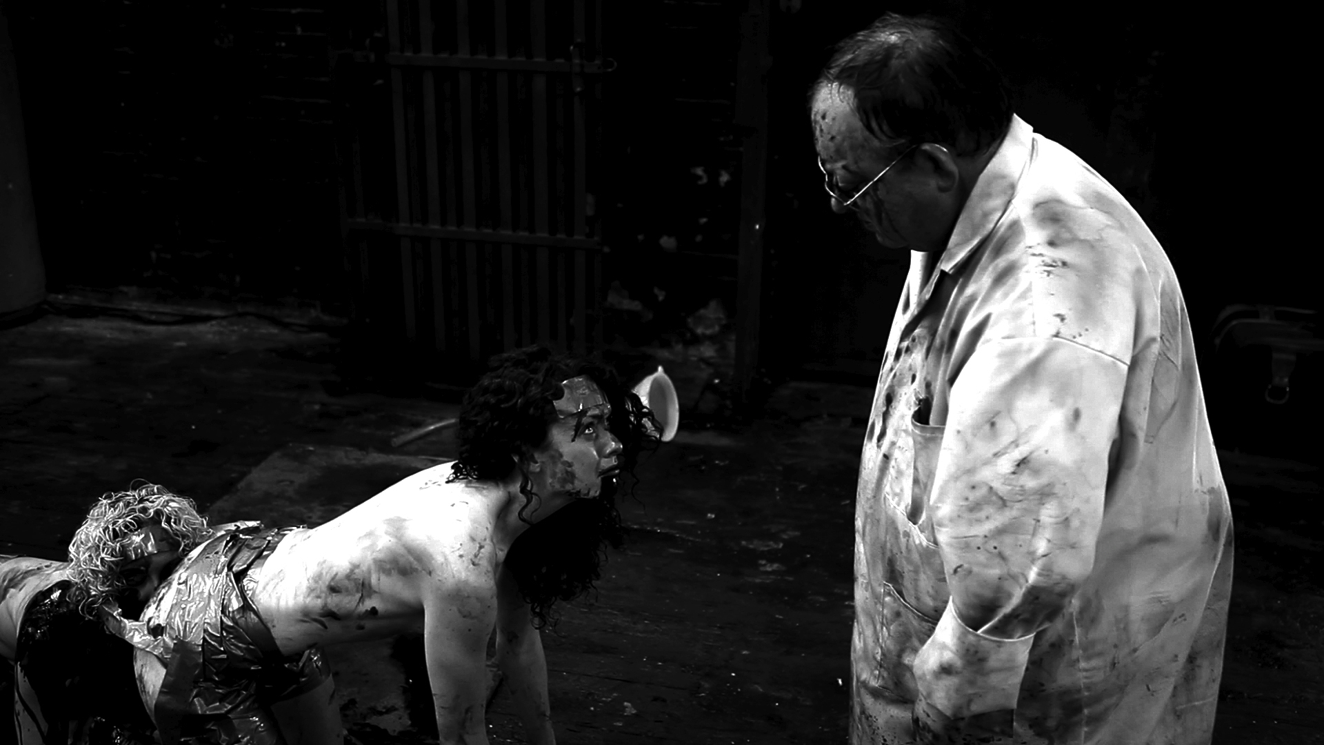 Ashlynn Yennie and Laurence R. Harvey in The Human Centipede II (Full Sequence) (2011)