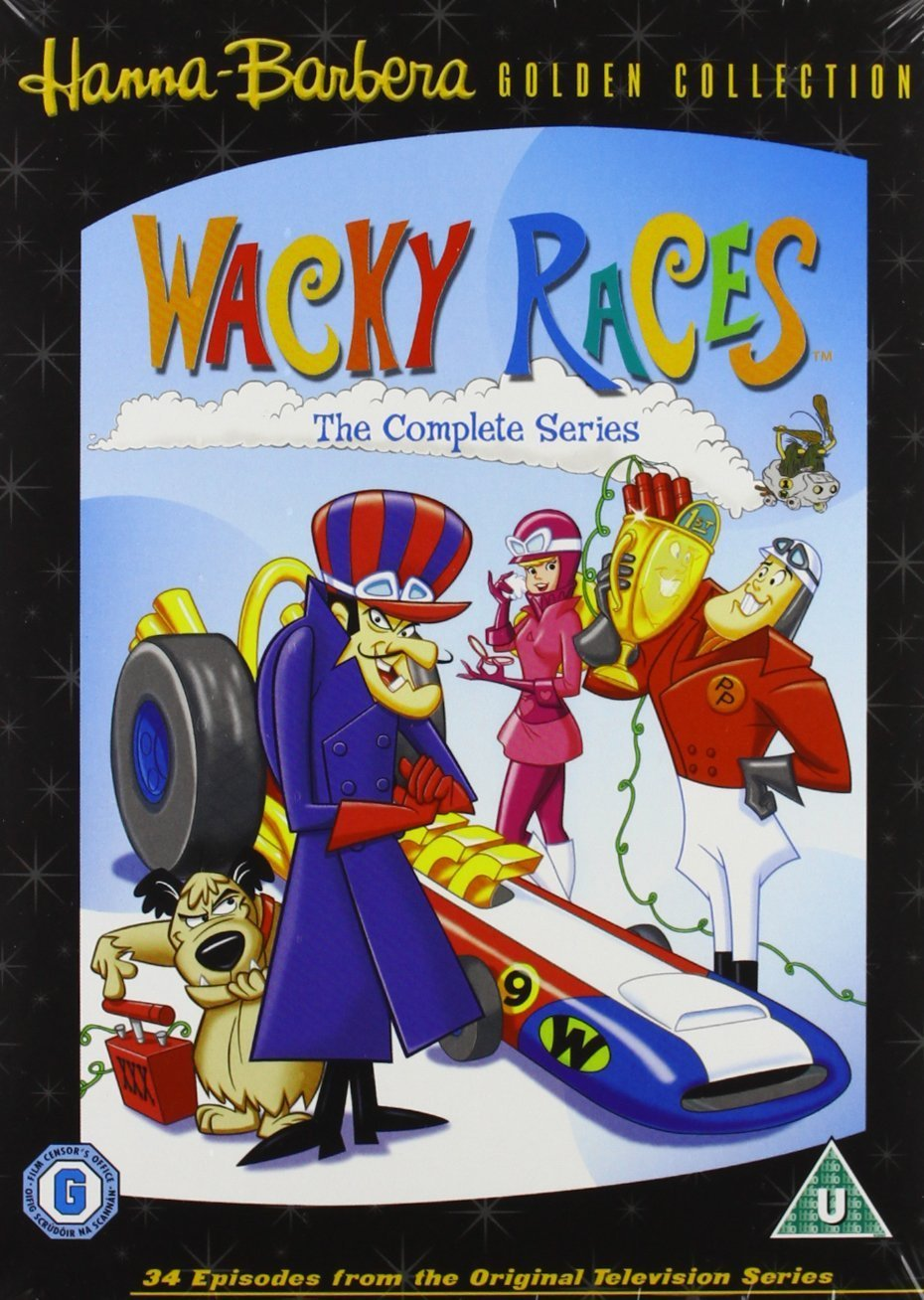 Daws Butler, Janet Waldo, and Paul Winchell in Wacky Races (1968)