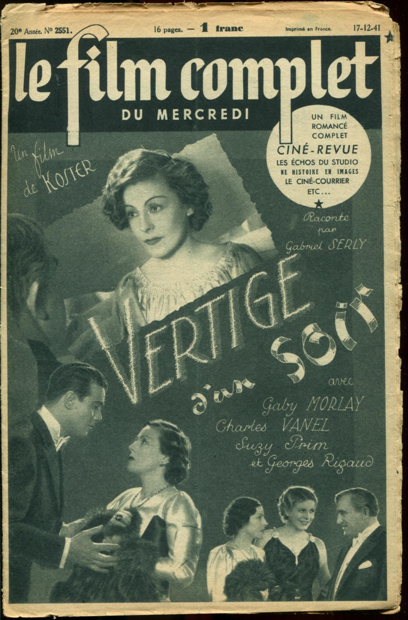 Gaby Morlay, Suzy Prim, George Rigaud, and Charles Vanel in La peur (1936)