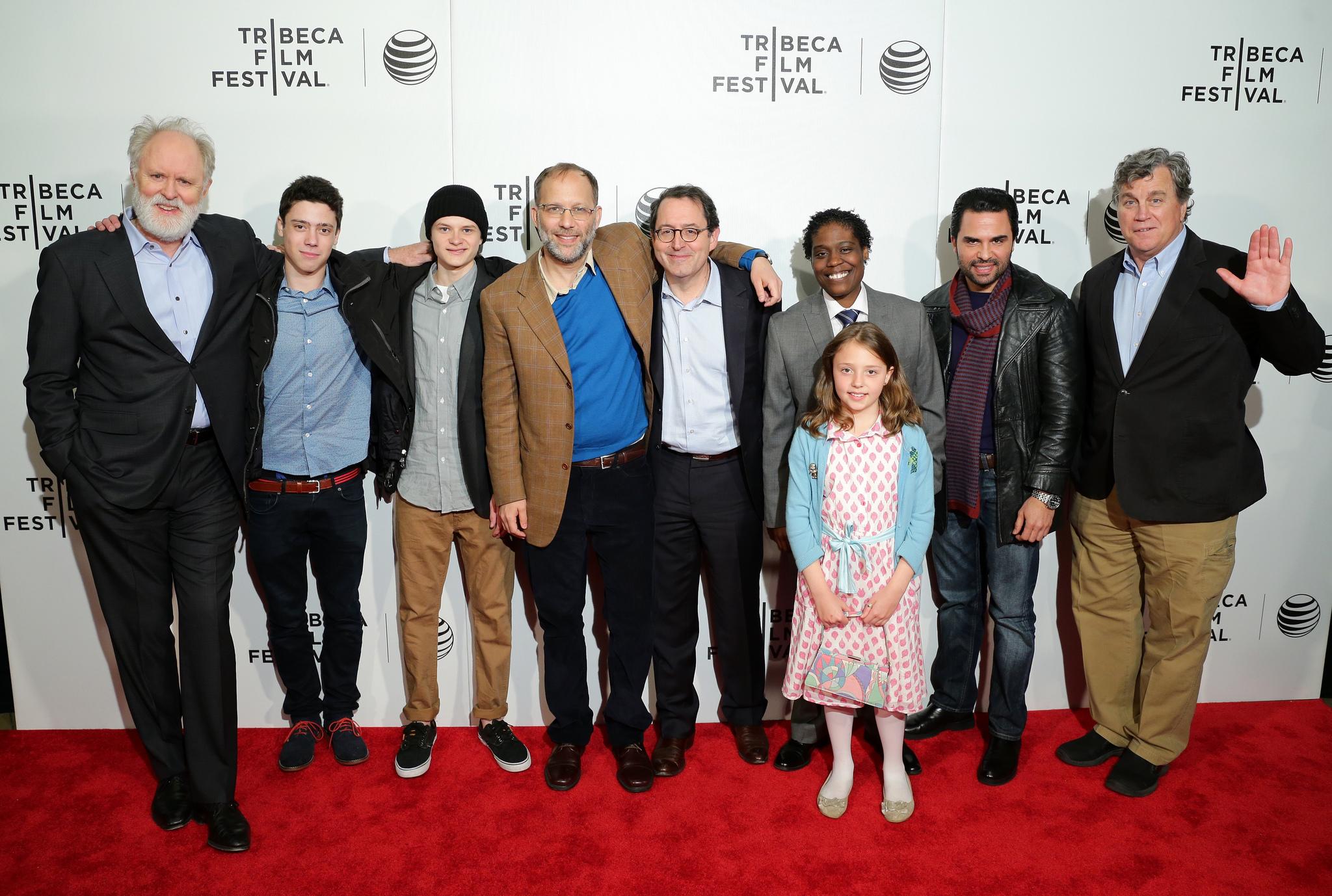 John Lithgow, Manny Perez, Ira Sachs, Michael Barker, Tom Bernard, Charlie Tahan, Tank Burt, Eric Tabach, and Dovie Currin at an event for Love Is Strange (2014)
