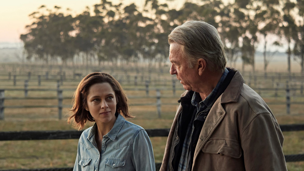 Sam Neill and Teresa Palmer in Ride Like a Girl (2019)