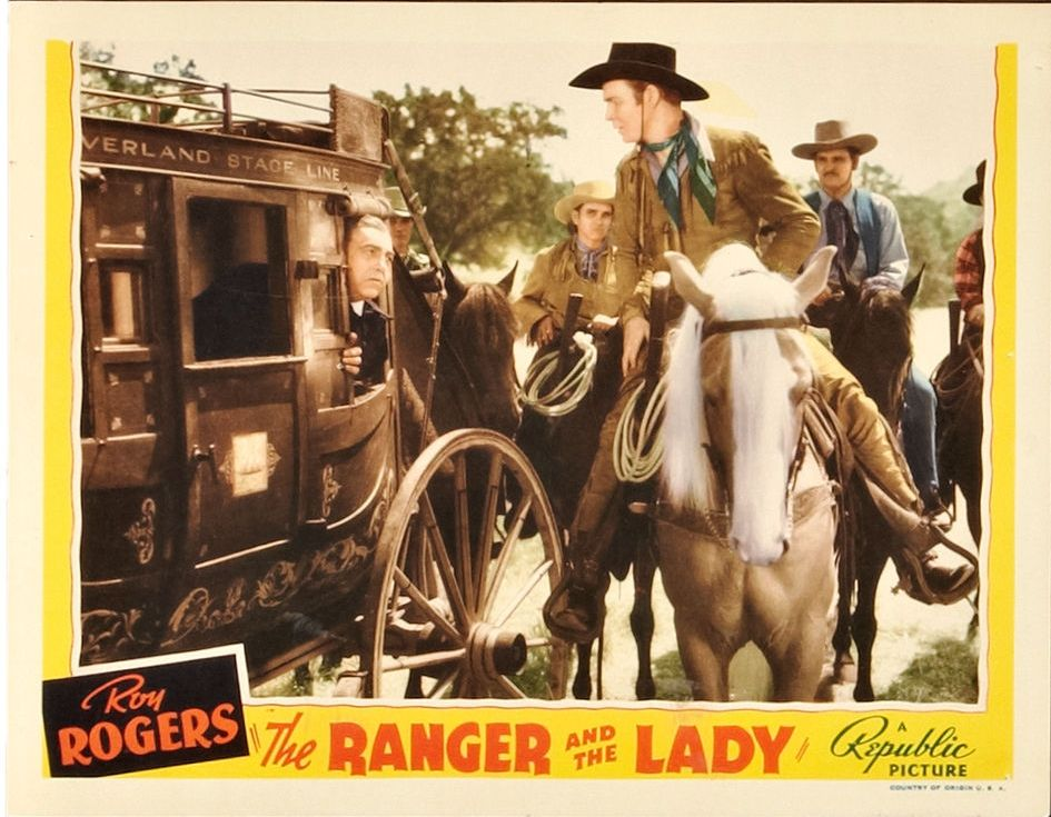 Roy Rogers, Davison Clark, and Trigger in The Ranger and the Lady (1940)
