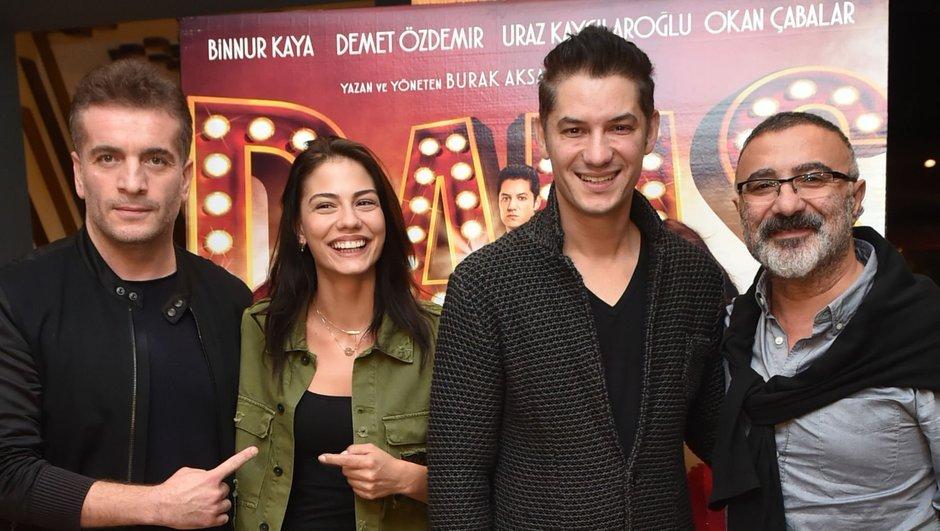 Cengiz Bozkurt, Murat Cemcir, Okan Çabalar, and Demet Özdemir at an event for Sen Kiminle Dans Ediyorsun (2017)