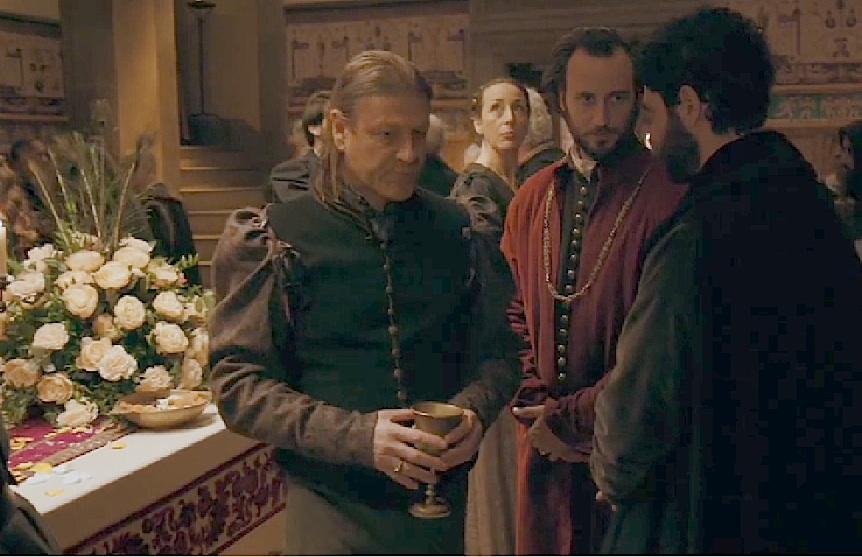 Sean Bean, Alessio Vassallo, and Michael Schermi in Medici (2016)