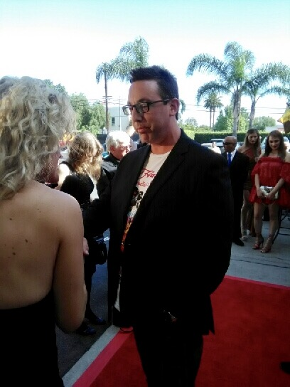 Mike Breyer on the red carpet at Raleigh Studios interviewing about his role as Rhett Dabler in The Admired.  04-22-2017