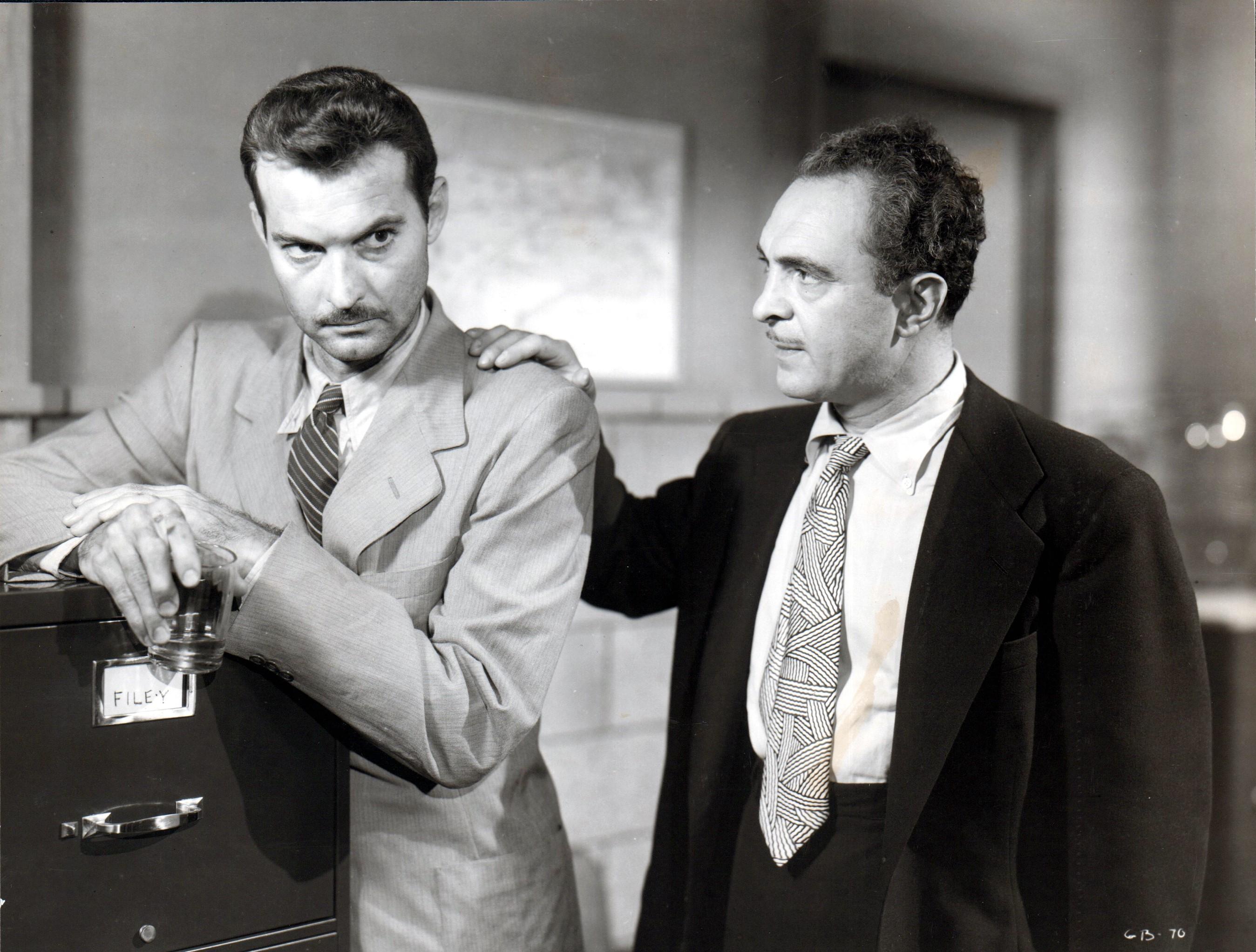 Sam Levene and Zachary Scott in Guilty Bystander (1950)