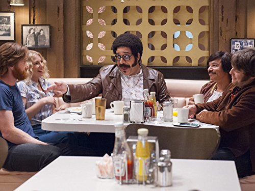Ari Graynor, Al Madrigal, Andrew Santino, and Erik Griffin in I'm Dying Up Here (2017)