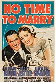No Time to Marry Poster