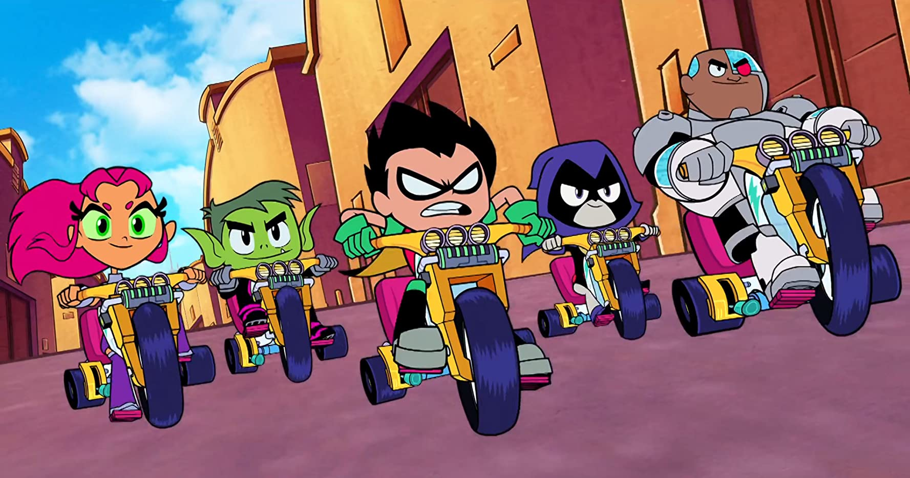 Tara Strong, Scott Menville, Hynden Walch, Greg Cipes, and Khary Payton in Teen Titans Go! To the Movies (2018)