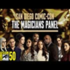 Trevor Einhorn, Rick Worthy, Brittany Curran, Stella Maeve, Summer Bishil, Hale Appleman, Jade Tailor, Olivia Taylor Dudley, and Arjun Gupta at an event for ComicCon 2019 - The Magicians Panel (2019)