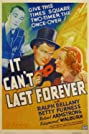 It Can't Last Forever (1937) Poster
