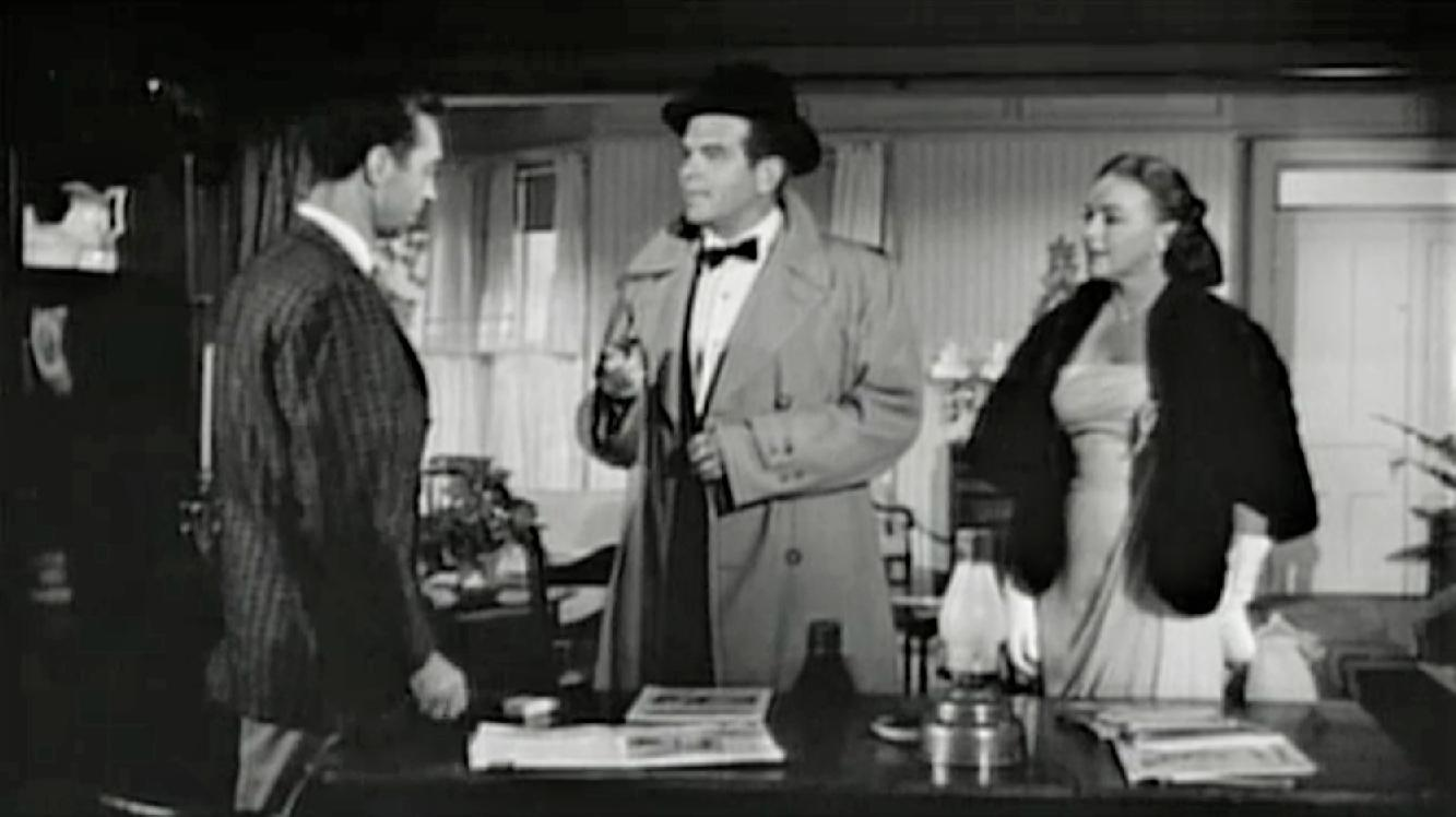 Marguerite Chapman, James Griffith, and Douglas Kennedy in The Amazing Transparent Man (1960)