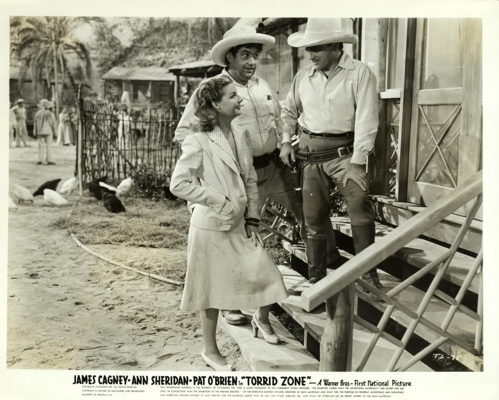 James Cagney, Andy Devine, and Ann Sheridan in Torrid Zone (1940)