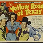 Roy Rogers, Dale Evans, William Haade, and Hal Taliaferro in The Yellow Rose of Texas (1944)
