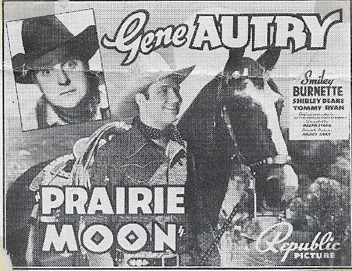 Gene Autry, Smiley Burnette, and Champion in Prairie Moon (1938)