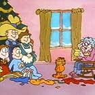 David L. Lander, Gregg Berger, Pat Carroll, Pat Harrington Jr., Thom Huge, Lorenzo Music, and Julie Payne in A Garfield Christmas Special (1987)